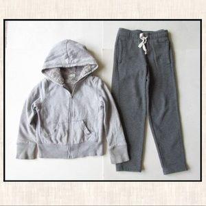 Cherokee 6 Gray Lined Hoodie Jacket Sweatpants Lot